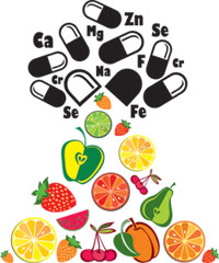 vitamins and fruit