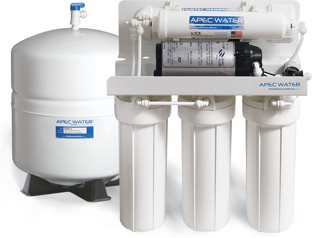 Apec Ultimate Reverse Osmosis System With Booster Pump 45 Gpd
