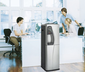 Quality bottless water cooler in the office or home.