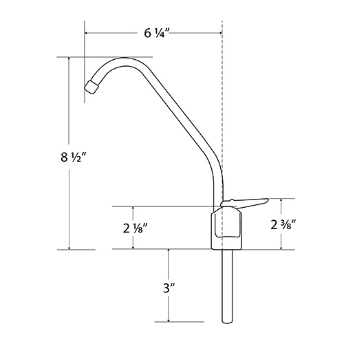 Standard Hole Size For Drinking Water Faucet