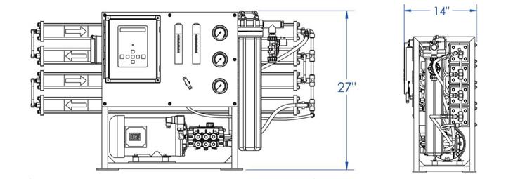 600 gpd sea water desalination  manufacturer of reverse
