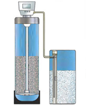 water softener diagram