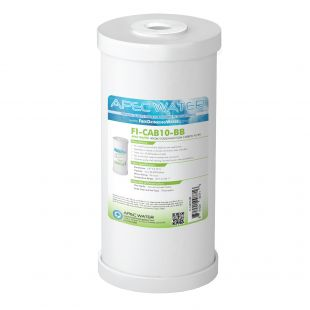 """Whole House High Flow Radial-Flow GAC Carbon Filter 4.5""""x 10"""", 25 Micron"""