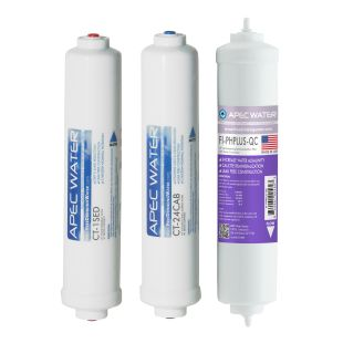 APEC Pre-filter Set for ULTIMATE RO-CTOP-PH and RO-CTOP-PHC Countertop Reverse Osmosis Systems (Stages 1 2 and 4)