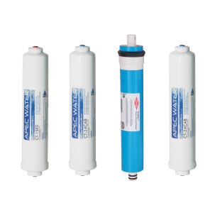 APEC Complete Filter Set for ULTIMATE RO-CTOP and RO-CTOP-C Countertop Reverse Osmosis Systems (Stages 1-4)