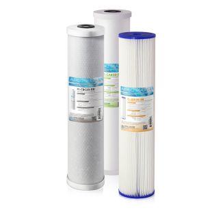"""APEC 20"""" Whole House Sediment, GAC Carbon, Carbon Block Replacement filter set for CB3-SED-CAB-CBC20-BB"""