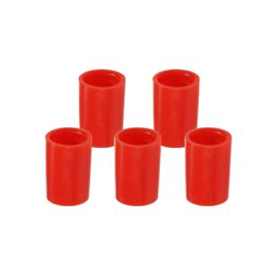 Red Tube Cap Set for Countertop System (Set of 5)