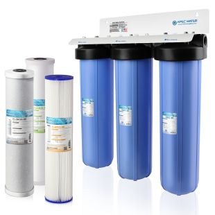 """Multi Purpose 20"""" BB Sediment, GAC Carbon and Carbon Block Combo Water Filter"""