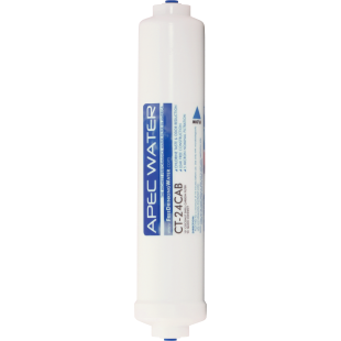 "APEC ULTIMATE Inline Carbon Pre-filter 10"",  with 1/4"" Quick-Connect"