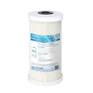 """Whole House Pleated & Reusable Sediment Filter 4.5"""" x 10"""", 5 Micron"""