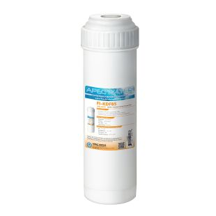 """APEC KDF85 2.5""""x10"""" GAC Water Filter Heavy Metals and Hydrogen Sulfide Reduction"""