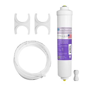 "Calcite Acidic Water Neutralizer 10"" Filter Kit - 3/8""D Tubing Quick Connect"