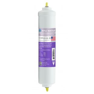 "APEC High Purity pH+ Calcium Carbonate Re-mineralization Inline Filters 10"" with 3/8"" Quick Connect"