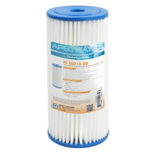 """Whole House Reusable & Pleated Sediment Filter 4.5"""" x 10"""", 30 Micron"""