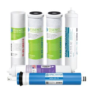 APEC Complete Filter Set for ESSENCE 75 GPD PH Reverse Osmosis 6-Stage Systems  (Stages 1-6)
