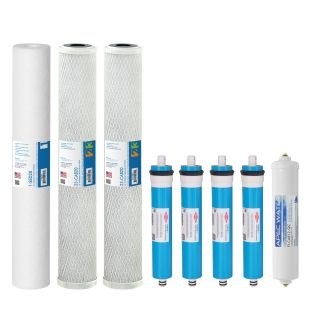 "Complete Filter Set for Lite Commercial 360 RO Systems - 20"" (All Stages)"