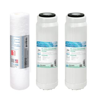 APEC Chloramine Pre-filter Set for WFS-1000 Water Filtration System (Stages 1 - 3)
