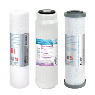 APEC Fluoride Pre-filter Set for WFS-1000 Water Filtration System (Stages 1 - 3)