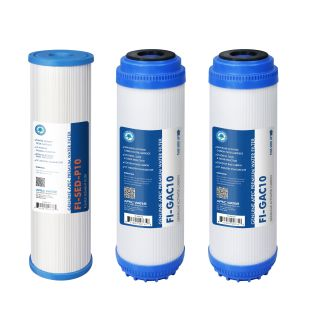 APEC GAC Pre-filter Set for All Under Counter Reverse Osmosis Systems (Stages 1 - 3)