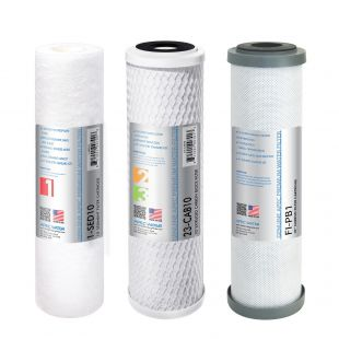APEC PB Pre-filter Set for WFS-1000 Water Filtration System (Stages 1 - 3)