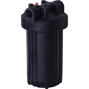 "Whole House Black 10"" Housing (1"" FPT) with pressure release (filter cartridges sold separately)"