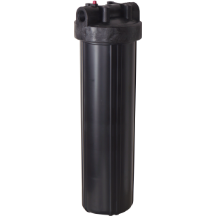 """Whole House Big Black 20"""" Housing (1"""" FPT) with pressure release (filter cartridges sold separately)"""