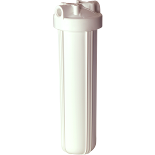 "Whole House Big White 20"" Housing (1"" FPT) w/o pressure release (filter cartridges sold separately)"