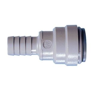 "John Guest Metric To Inch Barb Connector (15 mm Stem OD x 1/2"" Hose ID) (NC448)"