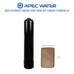 GREEN-CARBON-10 Replacement 1 C.F. Media And High Quality Tank For Reduce Chloramine, Chlorine, Odor Through Adsorption