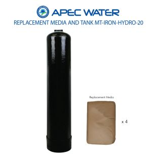 IRON-HYDRO-20 Replacement 2.0 C.F. Media And High Quality Tank To Reduce Iron, Hydrogen Sulfide, And Manganese Through Oxidation
