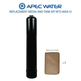 WTS-MAX-15 Replacement 1.5 C.F. Media And High Quality Tank For Chloramines And Chlorine Reduction