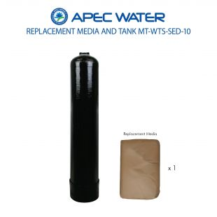 WTS-SED-10 Replacement 1 C.F. Media And High Quality Tank For Fine Sand, Sediment & Turbidity Reduction