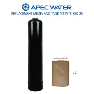 WTS-SED-20 Replacement 2 C.F. Media And High Quality Tank For Fine Sand, Sediment & Turbidity Reduction