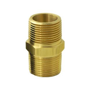 """Nipple-Brass for Whole House Water Filter (3/4"""" MPT)"""