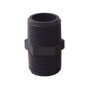 """Nipple-PVC (Black) for Whole House Water Filter (1"""" inlet & outlet)"""