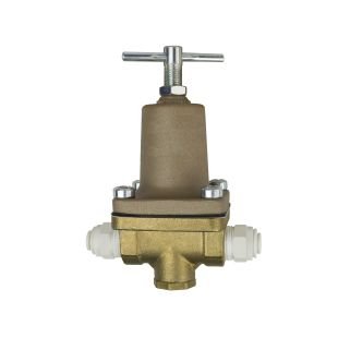 "Water Pressure Regulator 10-125 PSI, 1/4"" In/Out, with John Guest fittings"