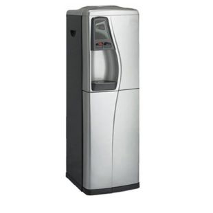 Deluxe Pure Water Cooler, 2 temp. Hot/Cold, with RO system 50GPD, Silver & Black
