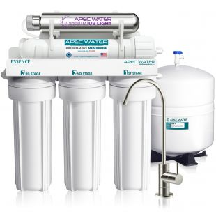 ROES-UV75-SS - Essence Stainless Steel UV Disinfecting 6-Stage 75 GPD Reverse Osmosis Drinking Water System