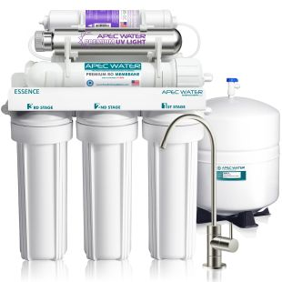 ROES-PHUV75 - Essence Alkaline Mineral pH+ and UV Ultra-Violet Sterilizer 75 GPD 7-Stage Reverse Osmosis Drinking Water System