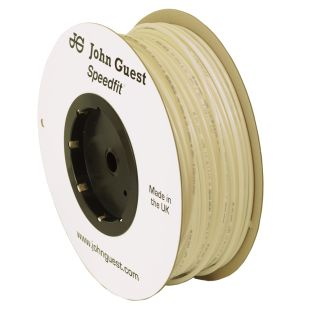 John Guest Food Grade Polyethylene Tubing For Reverse Osmosis Systems - 10 Feet (3/8 Inch, White)
