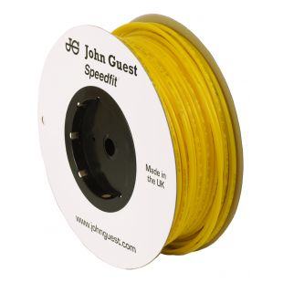 John Guest Food Grade Polyethylene Tubing For Reverse Osmosis Systems - 10 Feet (3/8 Inch, Yellow)