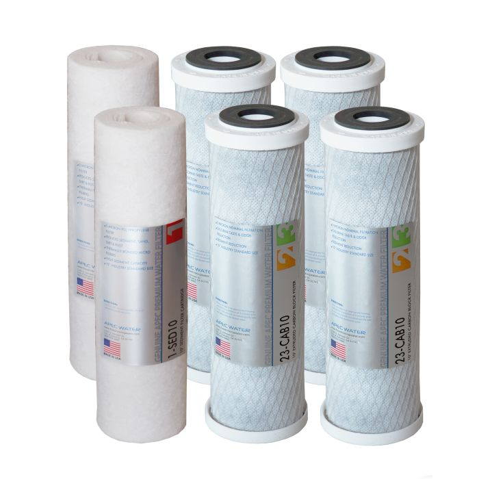 APEC Bundle of 2 Super Capacity Filter Set for all Under Counter ULTIMATE Reverse Osmosis Systems