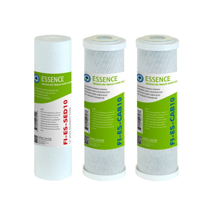 APEC Pre-filter Set for All ESSENCE Reverse Osmosis Systems (Stages 1-3)