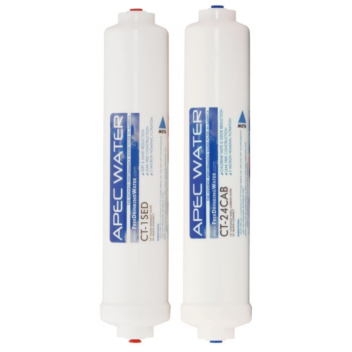 APEC Pre-filter Set for ULTIMATE RO-CTOP, RO-CTOP-C, RO-CTOP-PH and RO-CTOP-PHC Countertop Reverse Osmosis Systems (Stages 1 and 2)