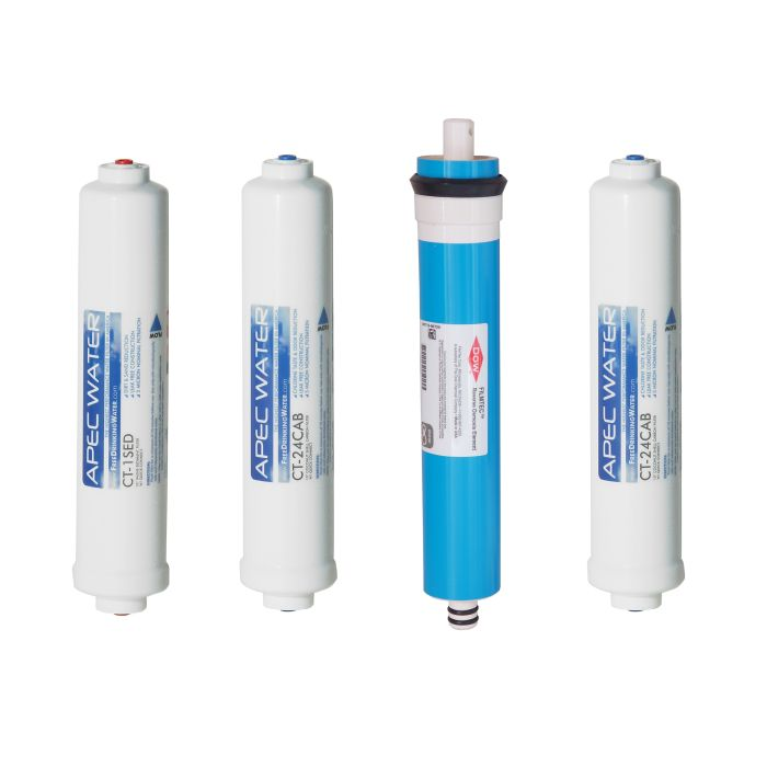 APEC Complete Filter Set for ULTIMATE RO-QUICK90 Compact Reverse Osmosis Systems (Stages 1-4)