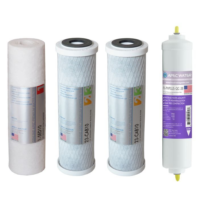 APEC Pre-filter Set for All ULTIMATE 90 GPD PH RO Systems (Stages 1 - 3 and 6) - With 3/8