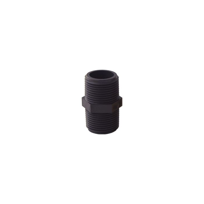 Nipple-PVC (Black) for Whole House Water Filter (1-1/2