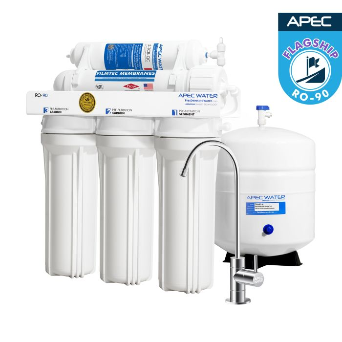 RO-90 – Ultimate 5-Stage 90 GPD High Output Reverse Osmosis Drinking Water System WQA Certified